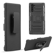 Advanced Armor Hybrid Kickstand Case with Holster Belt Clip for Samsung Galaxy Note 10 - Black 70921