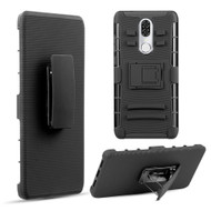 Advanced Armor Hybrid Kickstand Case with Holster Belt Clip for Coolpad Legacy - Black 70228