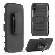 Advanced Armor Hybrid Kickstand Case with Holster Belt Clip for iPhone XS Max -  Black