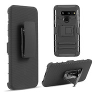 Advanced Armor Hybrid Kickstand Case with Holster Belt Clip for LG G8 ThinQ - Black 68164
