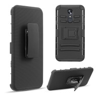 Advanced Armor Hybrid Kickstand Case with Holster Belt Clip for LG Stylo 5 - Black 70136