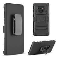 Advanced Armor Hybrid Kickstand Case with Holster Belt Clip for Samsung Galaxy Note 9 -  Black