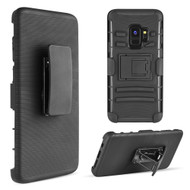 Advanced Armor Hybrid Kickstand Case with Holster Belt Clip for Samsung Galaxy S9 - Black