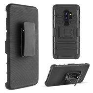 Advanced Armor Hybrid Kickstand Case with Holster Belt Clip for Samsung Galaxy S9 Plus - Black