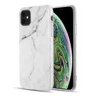 Marble TPU Case for iPhone 11 - White
