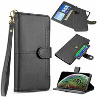 Napa Collection Luxury Leather Wallet with Magnetic Detachable Case for iPhone 11 Pro - Black