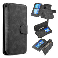 3-IN-1 Luxury Coach Series Leather Wallet with Detachable Magnetic Case for iPhone 11 Pro Max - Black