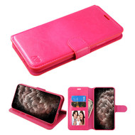Element Series Book-Style Leather Folio Case for iPhone 11 Pro Max - Hot Pink