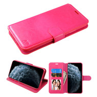 Element Series Book-Style Leather Folio Case for iPhone 11 Pro - Hot Pink