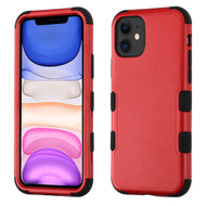 Military Grade Certified TUFF Hybrid Armor Case for iPhone 11 - Red