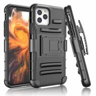 Advanced Armor Hybrid Kickstand Case with Holster Belt Clip for iPhone 11 Pro Max - Black 71539