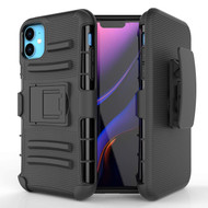 Advanced Armor Hybrid Kickstand Case with Holster Belt Clip for iPhone 11 - Black 71485