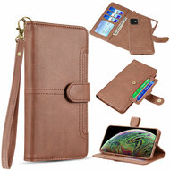 Napa Collection Luxury Leather Wallet with Magnetic Detachable Case for iPhone 11 - Brown