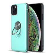 Dual Layer Fusion Case with Smart Loop Ring Holder for iPhone 11 Pro Max - Teal