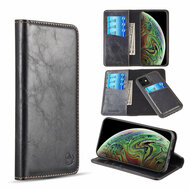 2-IN-1 Luxury Magnetic Leather Wallet Case for iPhone 11 - Black