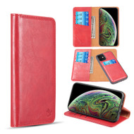 2-IN-1 Luxury Magnetic Leather Wallet Case for iPhone 11 - Red