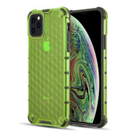 Honeycomb Transparent Case for iPhone 11 Pro - Green