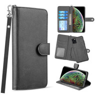 3-IN-1 Infinity Series Luxury Leather Wallet Case for iPhone 11 Pro - Black