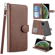 3-IN-1 Infinity Series Luxury Leather Wallet Case for iPhone 11 Pro - Brown