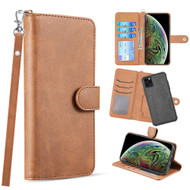 3-IN-1 Infinity Series Luxury Leather Wallet Case for iPhone 11 Pro - Beige