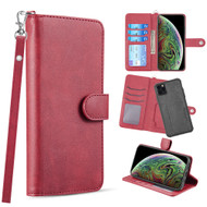 3-IN-1 Infinity Series Luxury Leather Wallet Case for iPhone 11 Pro Max - Red