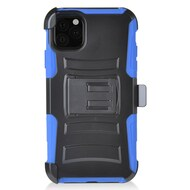 Advanced Armor Hybrid Kickstand Case with Holster Belt Clip for iPhone 11 - Blue