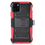 Advanced Armor Hybrid Kickstand Case with Holster Belt Clip for iPhone 11 - Red