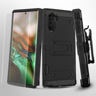 3-IN-1 Military Grade Certified Storm Tank Hybrid Case + Holster + Screen Protector for Samsung Galaxy Note 10 - Black
