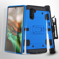 3-IN-1 Military Grade Certified Storm Tank Hybrid Case + Holster + Screen Protector for Samsung Galaxy Note 10 - Blue