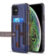 Travel Light Hybrid Card Case with Finger Loop for iPhone 11 - Navy Blue