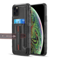 Travel Light Hybrid Card Case with Finger Loop for iPhone 11 Pro Max - Black