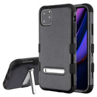 Military Grade Certified TUFF Hybrid Armor Case with Kickstand for iPhone 11 Pro Max - Black