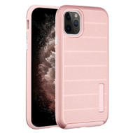 Haptic Dots Texture Anti-Slip Hybrid Armor Case for iPhone 11 Pro Max - Rose Gold