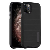 Haptic Dots Texture Anti-Slip Hybrid Armor Case for iPhone 11 Pro Max - Black