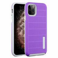 Haptic Dots Texture Anti-Slip Hybrid Armor Case for iPhone 11 Pro Max - Purple