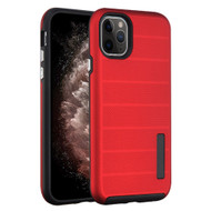 Haptic Dots Texture Anti-Slip Hybrid Armor Case for iPhone 11 Pro Max - Red