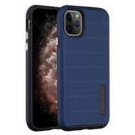 Haptic Dots Texture Anti-Slip Hybrid Armor Case for iPhone 11 Pro Max - Navy Blue