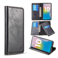 2-IN-1 Luxury Magnetic Leather Wallet Case for Samsung Galaxy Note 10 - Black