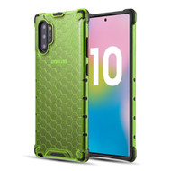 Honeycomb Transparent Case for Samsung Galaxy Note 10 Plus - Green