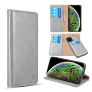 2-IN-1 Luxury Magnetic Leather Wallet Case for iPhone 11 Pro Max - Grey
