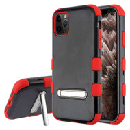 Military Grade Certified TUFF Hybrid Armor Case with Kickstand for iPhone 11 Pro Max - Black Red