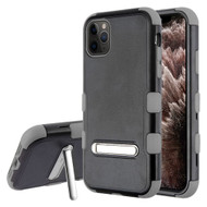 Military Grade Certified TUFF Hybrid Armor Case with Kickstand for iPhone 11 Pro Max - Black Grey