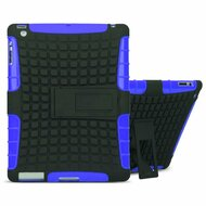 Advanced Armor Hybrid Kickstand Case and Screen Protector for iPad (2nd, 3rd and 4th Generation) - Blue