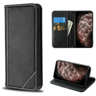 Mybat Genuine Leather Wallet Case for iPhone 11 Pro Max - Black