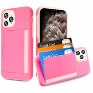 Poket Credit Card Hybrid Armor Case for iPhone 11 Pro Max - Pink