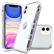 Military Grade Certified TUFF Lucid Transparent Hybrid Armor Case for iPhone 11 - Clear