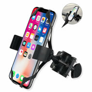 Cell Phone Bicycle Motorcycle Handlebar Mount Holder - Black