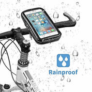 Waterproof Cell Phone Bicycle Motorcycle Handlebar Mount Holder - Black