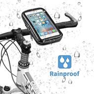 Waterproof Cell Phone Bicycle Motorcycle Handlebar Mount Holder - Black