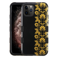 Military Grade Certified TUFF Hybrid Armor Case for iPhone 11 Pro Max - Floral Gold
